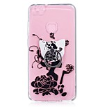 Case For Huawei P10 Lite Ring Holder Transparent Pattern Back Cover Sexy Lady Soft TPU for Huawei P10 Lite Huawei P8 Lite (2017)