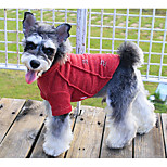 Dog Sweatshirt Dog Clothes Casual/Daily Solid Red Green Blue Costume For Pets