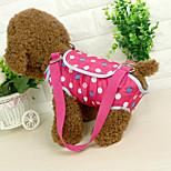 Cat Dog Sling Bag Pet Carrier Portable Polka Dots Blushing Pink Blue