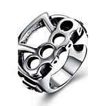 Недорогие -Муж. Массивные кольца , Винтаж На каждый день Крупногабаритные Нержавеющая сталь Геометрической формы Бижутерия Официальные Для клуба