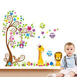 Животные ботанический Наклейки Простые наклейки Декоративные наклейки на стены материал Украшение дома Наклейка на стену