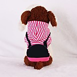 Dog Hoodie Dog Clothes Casual/Daily Stripe Fuchsia Dark Blue