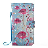 Case For Huawei P8 Lite (2017) P10 Lite Card Holder Wallet with Stand Flip Magnetic Pattern Full Body Flamingo Hard PU Leather for Huawei