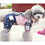 Dog Clothes/Jumpsuit Dog Clothes Casual/Daily Geometic Blushing Pink Blue