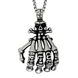 Men's Women's Pendant Necklaces Skull Stainless Steel Personalized Rock Jewelry For Holiday Club