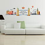 Architecture Fashion Famous Wall Stickers Plane Wall Stickers Decorative Wall Stickers,Plastic Material Home Decoration Wall Decal