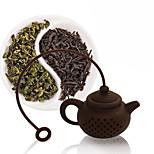 силиконовый чайный пакетик чайный горшок формы фильтр инфузионный кофе сетчатый фильтр случайный цвет