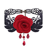 Women's Choker Necklaces Flower Jewelry Lace Alloy Floral Sweet Elegant Jewelry For Daily Casual
