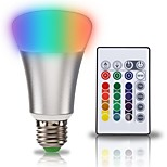 1set 10W E27 LED Globe Bulbs A70 1 leds COB 2 in 1 RGB+White 900lm +6000K AC 85-265V