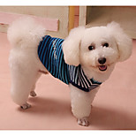 Dog Sweater Dog Clothes Casual/Daily Stripe Red Blue For Pets