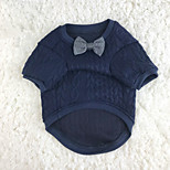 Dog Sweaters Dog Clothes Casual/Daily Solid Blue Costume For Pets