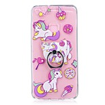 Case For Huawei P10 Lite Ring Holder Transparent Pattern Back Cover Unicorn Soft TPU for Huawei P10 Lite Huawei P8 Lite (2017)