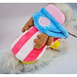 Собака Толстовки Одежда для собак На каждый день Полоски Оранжевый Розовый