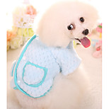 Dog Sweatshirt Dog Clothes Casual/Daily Solid Blue Pink Costume For Pets