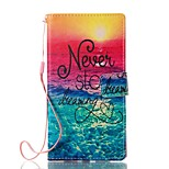 For Case Cover Card Holder Wallet with Stand Flip Magnetic Pattern Full Body Case Scenery Hard PU Leather for Sony Sony Xperia L1