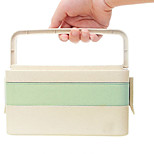 Wheat fiber lunch box Japanese bento box rice husk tableware student portable lunch box sushi box microwave oven 3 layers