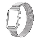 Stainless Steel Replacement Strap iWatch Magnetic Band with Metal Case Cover for Apple Watch Series 2 Series 1-42mm(silver)
