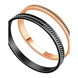 Муж. Жен. Браслет цельное кольцо Любовь Сердце Нержавеющая сталь Круглый Бижутерия Назначение Обручение Официальные