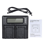 Andoer NP-FW50 NPFW50 Dual Channel Digital Camera Battery Charger w/ LCD Display for Sony 7 7R 7sII 7II 6500 A6300 7RII NEX Series