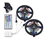 10M 3528 RGB Strip Light 44 Keys IR Remote Supply Power 6A Waterproof Lantern Stripe 60LEDs/m Lamp Tape Ribbon DC12V
