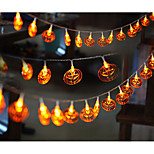 LED String Light Pumpkin Shape 6W 6LM 10M 20LEDS Yellow AC220V