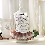 Dog Dress Dog Clothes Cotton Spring/Fall Summer Casual/Daily Princess Coffee Costume For Pets