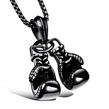 Men's Pendant Necklaces Lariat Y Necklaces Titanium Steel Metallic Sports Jewelry For Daily Casual