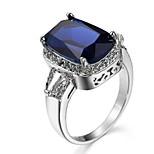 Муж. Жен. Кольцо на кончик пальца Обручальное кольцо Цирконий Циркон Медь В форме квадрата Бижутерия Назначение Свадьба Для вечеринок