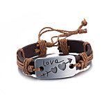 Men's Women's Leather Bracelet Friendship Punk PU Alloy Heart Jewelry For Daily Casual Stage Office & Career Street