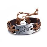 Муж. Жен. Кожаные браслеты Сплав В форме сердца Бижутерия Назначение Повседневные Для сцены Для улицы