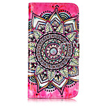 For Case Cover Card Holder Wallet with Stand Flip Pattern Full Body Case Mandala Hard PU Leather for Motorola Moto G5 Plus Moto G5 Moto C