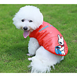 Dog Vest Dog Clothes Casual/Daily Embroidered Green Orange