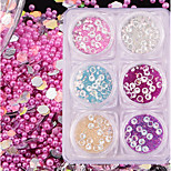 6 Nail Art Decoration Rhinestone Pearls Makeup Cosmetic Nail Art Design
