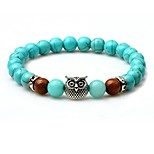 Men's Strand Bracelet Turquoise Animals Lovely Turquoise Circle Jewelry For Going out Street