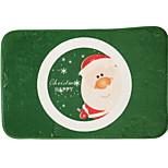 Santa Claus Flocking Plastic Foam Mat
