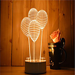 1 Set Of 3D Mood Night Light Hand Feeling Dimmable USB Powered Gift Lamp Balloon
