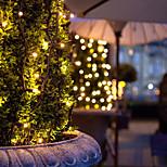12m 100 led солнечные приведенные в действие светодиодные огни шнур для наружных садов дома рождественская вечеринка