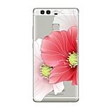 Hülle Für Huawei P9 P10 Transparent Muster Rückseitenabdeckung Blume Weich TPU für Huawei P10 Plus Huawei P10 Lite Huawei P10 Huawei P9