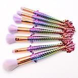 cheap -7Pcs Mermaid Makeup Brush Suit Tools Foundation Fish Scale Makeup Brushes