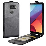 Case For LG V30 K10 (2017) Card Holder Flip Full Body Solid Color Hard PU Leather for LG K10 (2017) LG K10 LG Q6 LG V30