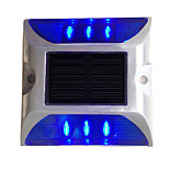 cheap -1PCS Aluminum Solar 6-LED Outdoor Road Driveway Dock Path Ground Light Lamp Blue