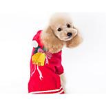 Недорогие -Собака Свитера Одежда для собак Рождество Новогодняя тематика Красный Костюм Для домашних животных