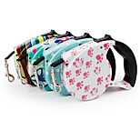 Dog Leash Portable Geometric Nylon Rainbow Pink Blue White