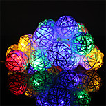 1PCS HKV® 4M 20LED 8 Work Modes LED Fairy Lamp With Exquisite Rattan Balls Christmas Wedding Party Light AC 220-240V