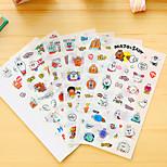 6 Pcs/Set Cartoon Rabbit Diary Sticker Phone Sticker Scrapbook Stickers
