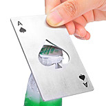 1Pc Creative Poker Card Spade Shaped Credit Card Beer Wine Soda Bottle Cap Opener Bar Kitchen Tool