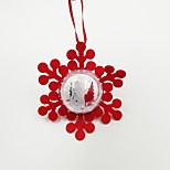 Snow Plastic Ball Non-Woven Fabric Christmas Ornament