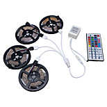 HKV® 20M(4x5m) RGB 3528SMD 1200LED RGB LED Flexible Strip Lights NO-Waterproof With 44Key IR Remote Controller Kit DC 12V