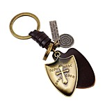 cheap -Keychains Jewelry Leather Alloy Cross Shield Vintage Gothic Daily Going out