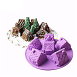 Формы для пирожных Медведи Лед Для получения хлеба Для шоколада Для торта конфеты Хлеб Торты кремнийорганическая резина Силикон